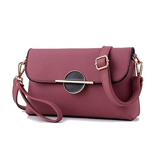 Auspicious beginning Borsa elegante e semplice della piccola borsa di coccodrillo della frizione per le signore rosa di gomma