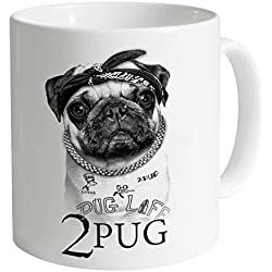 Goodie Two Sleeves 2 Pug Taza