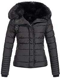 Marikoo Laureen Damen Jacke Steppjacke Winterjacke warm Parka großer  Kunstfellkragen XS-XL 5-Farben 3ed4f5fc9e