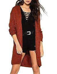 Logobeing Blusas Mujer Suéter Abrigo Jersey Mujer Otoño Invierno Sexy Casual Chaqueta de Punto Talla Grande Suéter Tops -1852#