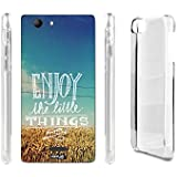 FUNDA CARCASA ENJOY FRASE PARA WIKO RIDGE 4G