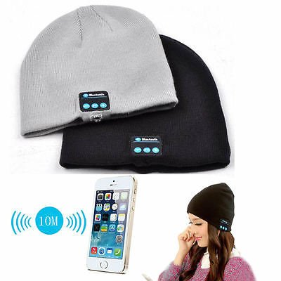 Fone-Case ZTE Nubia Z5S mini NX405H (Light Grey) Wireless Bluetooth Beanie-Hut mit Stereo-Kopfhörer-Headset-Lautsprecher und Hands-Free Built-In
