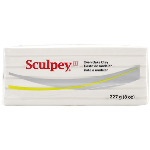 Polyform Sculpey III Polymer Clay 8 oz-White