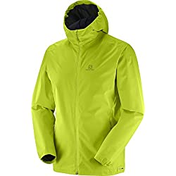 Salomon Essential Jkt Chaqueta Impermeable Para Hombre Color Acid Lime