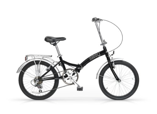 MBM EASY 20'' BYCYCLE FOLDING BIKE BICICLETA PLEGABLE NEGRO/PLATA