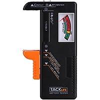 [Sponsorizzato]Tacklife MBT01 Classico Tester di Batterie per Batterie AAA, AA, C, D, 1.5V, 9V e Altri Tipi di Batterie, Ideale per Uso Domestico