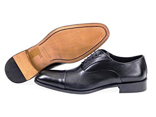 fd4af2131 DANIEL JACOB Chaussures pour Hommes.Tout en Cuir. Oxford Veau Lisse -Noir