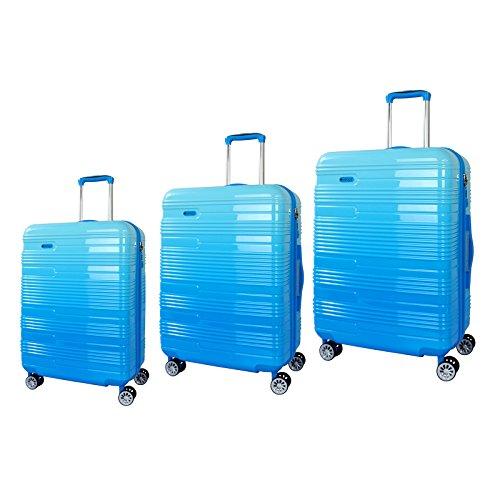 Verage Piano Trolley Sky Blue 3er Set S-48 cm (19')+M-61 cm (24')+L-71 cm (28') Koffer Suitcase Handgepäckkoffer Reisekoffer Marken-Qualitätsware...