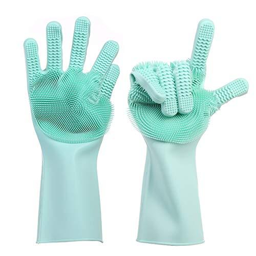 1 par guantes limpieza reutilizables doble cara lavar