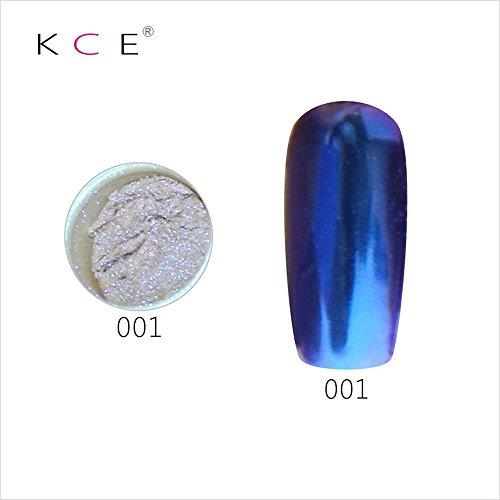topbeauty Nail Art Paillettes Brillant miroir chrome Pigment poudre Nail Art Outils avec éponge Stick 2