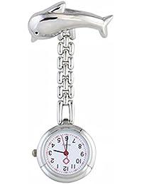 TrifyCore Reloj de Bolsillo médico Silver Dolphin Nurse Special Watch