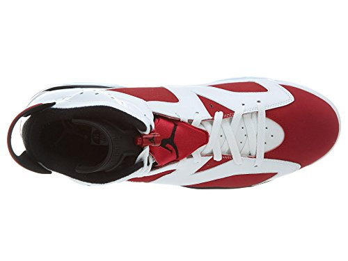Nike Air Jordan 6 Retro, Chaussures de Sport Homme, Blanc, For Men Blanc / Rouge / Noir / (White / Carmine-Black)
