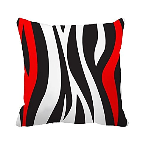 18 x 18 Inches Wavy Vertical Stripes Black White and