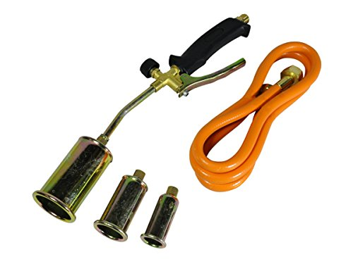 Gasbrenner-Set für Propan / Butan, Lötset, Anwärmbrenner, Schlauch, Regler, für Klempner und Dachdecker -