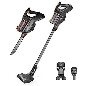 Aspirateur balais TACKLIFE VCST01A, aspirateur sans sac à brosse rotative et éclairage LED, puissance 130 watt et 22.2 V