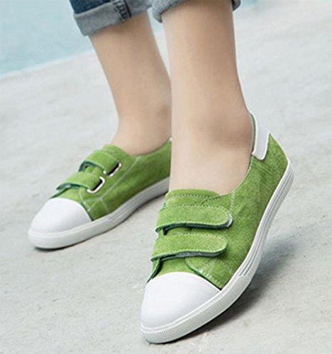 La signora cadere scarpe piane pattini dell'allievo sneakers scarpe casual Green
