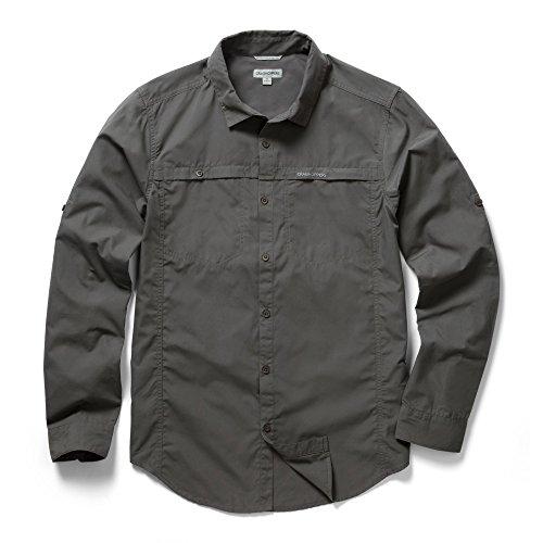 Craghoppers Outdoor Klassisches Herren Kiwi Trek Langarm Hemd (XL) (Asche)