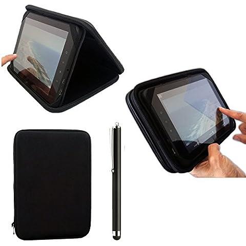 8pulgadas Negro EVA Funda tipo libro rígida para MobiTab Touch Smart Series 8, Asus VivoTab Note 8, VOYO-A1MINI, Ployer Momo8Momo 8Star, velocidad y Gemini Joytab 8