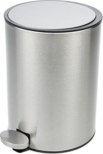 BAMODI Kosmetikeimer – Badezimmer Mülleimer 3 L in Top Qualität – Abfalleimer Bad Absenkautomatik – Edelstahl gebürstet – Softclose–System zum Verlieben