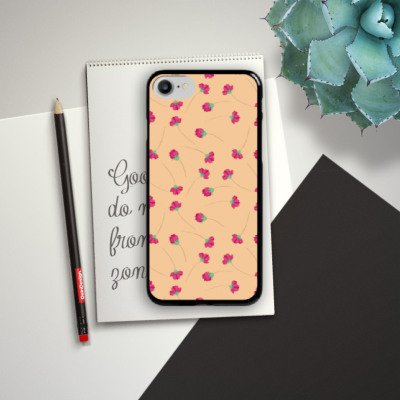 Apple iPhone X Silikon Hülle Case Schutzhülle Blumen Muster Ornamente Hard Case schwarz