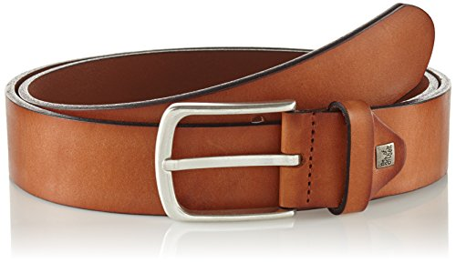 Lindenmann The Art of Belt by Mens leather belt/Mens belt, full grain leather belt with effect, unisex, cognac