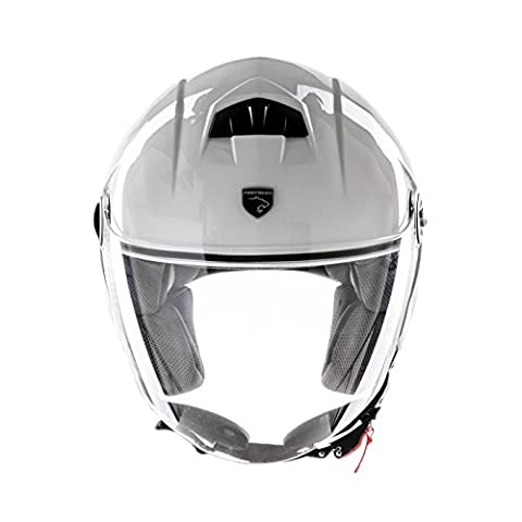 Panthera casque moto full jet Trendy blanc brillant taille