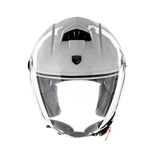 Panthera casco moto full jet Trendy blanco brillante