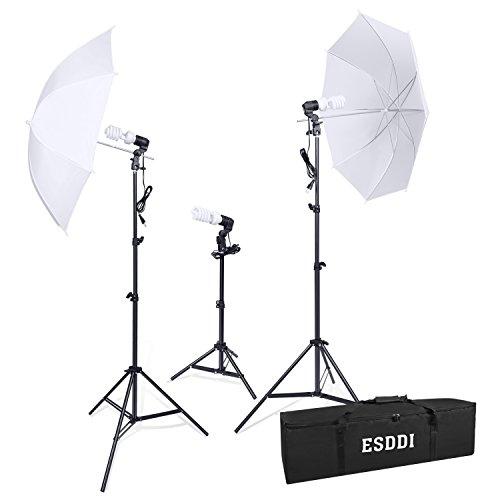 La iluminación continua de paraguas blanco del Estudio de fotografía de ESDDI reflectan con 45 vatios de luz diurna 5500K para Cámara de Retrato Disparo de Video