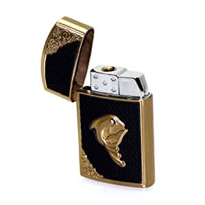 Briquet moderne noir et or de marque Oramics®