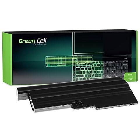 Green Cell® Extended Série Batterie pour Lenovo IBM ThinkPad R60 R60i R60e R61 R61e T60 T60p T61 SL400 SL500 R500 T500 W500 Ordinateur PC Portable (9 Cellules 6600mAh 10.8V Noir)