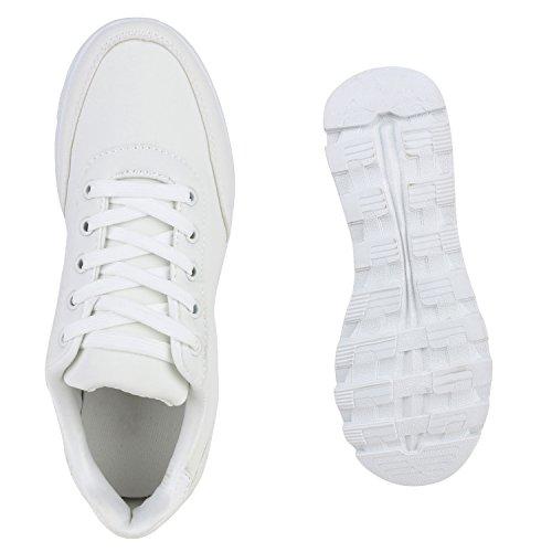 Carlton Runners Weiss Damen Profilsohle Schuhe Laufschuhe Sneaker wtqxwX4YT