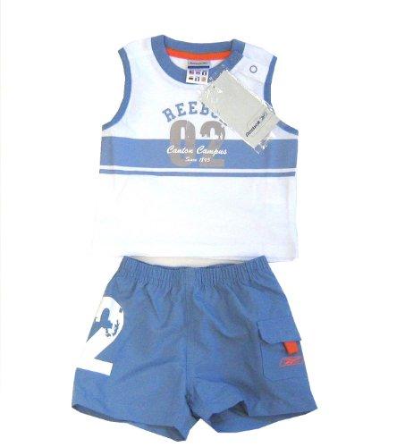 REEBOK Baby-Set Baby-Kombi Shirt + Short blau weiß 80