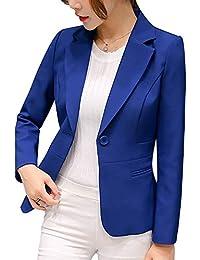 e5991a0e557b Donna Manica Lunga Cappotto Elegante Ufficio Business Blazer Top Corto Ol  Carriera Tailleur Giacca