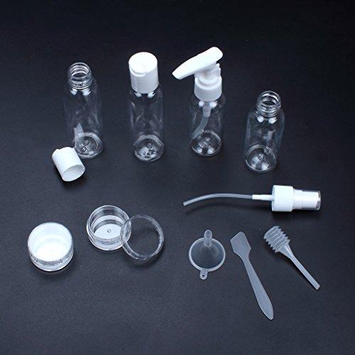 Edealing Set Of 6Pcs Voyage Empty petit échantillon de crème liquide Bouteilles vaporisateur de parfum Jar Container Mask Bouteille