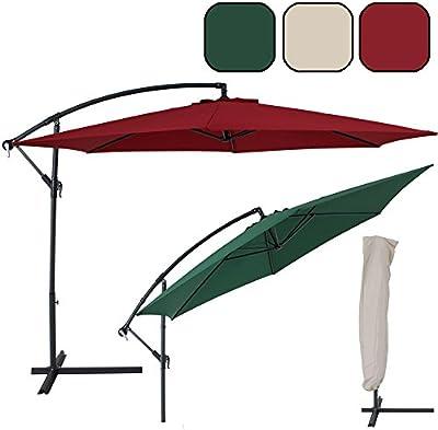 TecTake 3,5m Sombrilla parasol de aluminio para terraza jardín protección solar UV - disponible en diferentes colores -