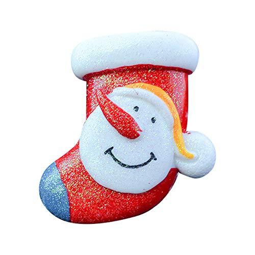 fiejns-zjy Weihnachtsschmuck Ausverkauf, Bunte Frohe Weihnachten Auto Fahrzeug Parfüm Lufterfrischer Solide Duft Vent Outlet Clip 5# -