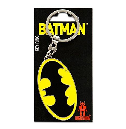 (Schlüsselanhänger Batman Logo - Schlüsselanhänger DC Comics - Superheld - Key-Ring - farbig - Lizenziertes Originaldesign - Logoshirt)