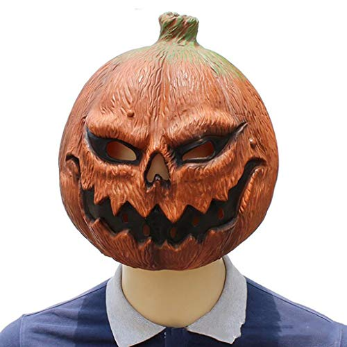 Deluxe Latex Vogelscheuche Maske - Z-TOY Halloween Kostüm Party Latex Kürbis