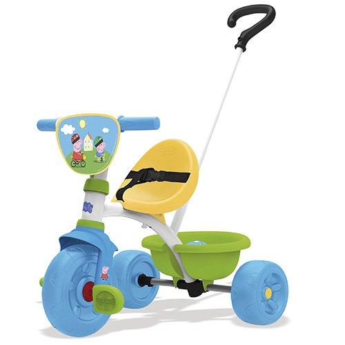Smoby Peppa Pig Triciclo con volquete, Color aucune (740313)