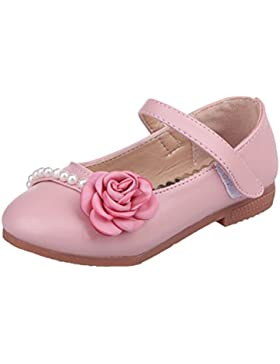 Zhhlaixing Ballet Flats Summer Girls Sandals Kids Flat Shoes PU Leather Soft Fashion Flowers Princess Children's...