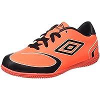 Umbro 40222U-EPL, Zapatillas de Deporte Unisex Adulto, Varios Colores (Negro/Blanco/Naranja), 45 EU