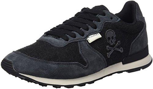 Scalpers Flannel Insignia 02, Zapatos de Cordones para Hombre, Black, 42