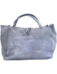 d483e1075e1ea BZNA Bag Diana grau Italy Designer Weekender Damen Handtasche  Schultertasche Tasche Leder Shopper Neu