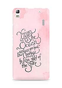 AMEZ you can never cross the Ocean Back Cover For Lenovo K3 Note