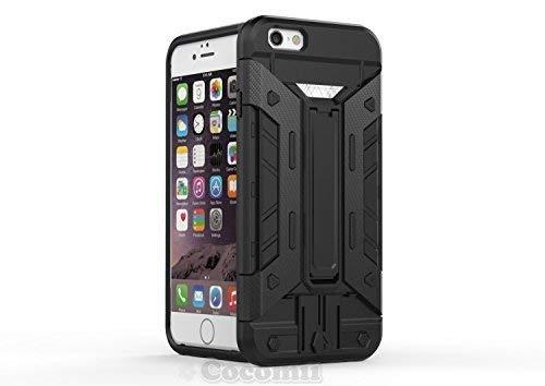 Cocomii Transformer Armor iPhone 6S/6 Hülle [Strapazierfähig] Eingebaut Brieftasche Ständer Stoßfest Gehäuse [Militärisch Verteidiger] Ganzkörper Case Schutzhülle for Apple iPhone 6S/6 (T.Black) (Protector Scratch Back 6 Iphone)