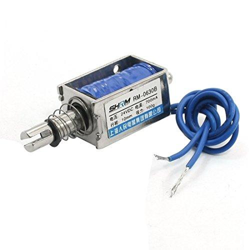 DC24V 100g Kraft 10mm Hub Pull Push-2-Drähte Solenoid-Elektromagnet -