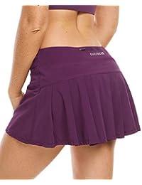 QUEENIEKE Falda Ultra Mujer con Pantalones Cortos Atléticos Gym Tennies Falda Deportiva Color Lavanda Morada Tamaño XL
