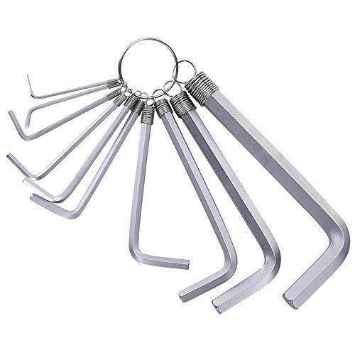 10Pcs Hex Key Set Allen Keys Torx Wrench Long Arm Holder mit Schlüsselanhänger Heavy Duty Rustproof Practical Tools für Home Wartung von Möbelgeräten DIY -