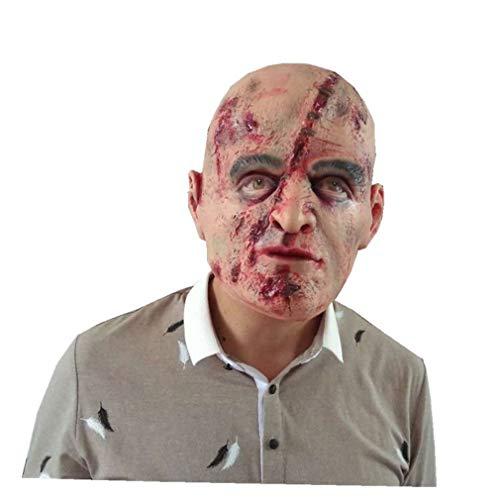 (ZMH Erwachsene Latex Scary Maske Volle Gesichtsbehandlung Atmungsaktive Halloween-Maske Scary Maske Fancy Horror Maske)