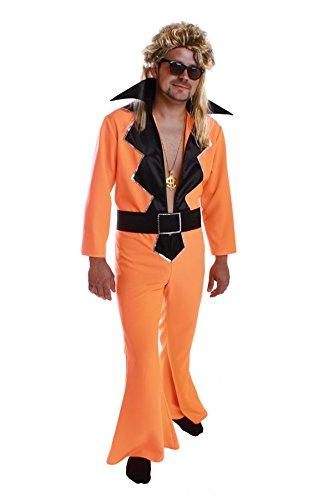 Schlagerkostüm Outfit Herren Overall Disco ()